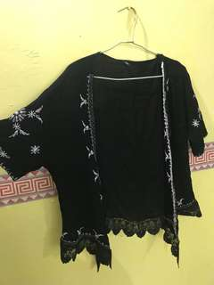 Embroiled Black Cardigan