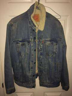 MENS LEVIS DENIM/WOOL JACKET