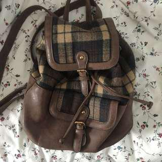 Bagpack checkered New look