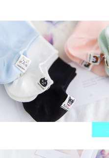 (PO) Cute Color Korean Cotton Ankle Socks 5 Pcs Bundle