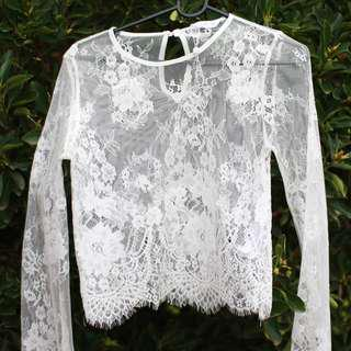 Supre Lace Long Sleeve Top