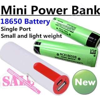 🚚 18650 行動電源 迷你 超大容量 筆筒/圓筒 可換電池 高容量 禮物 取代笨重的 小米 松下 鋰電池 single port DIY power bank case battery charger box