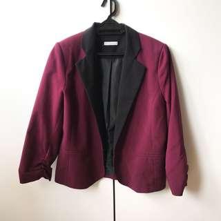 Hot Options Maroon Blazer Jacket
