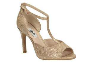Clarks Champagne / Gold Heels