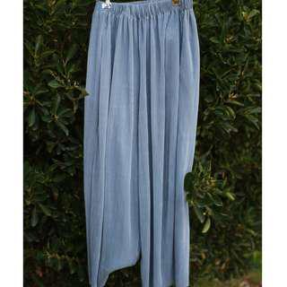Blue Culotte Pants
