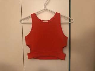 Bright Orange Crop Top from Forever21 size small