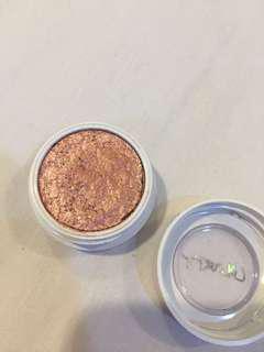 colourpop supershock shadow : sequin rosegold eyeshadow