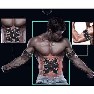 Rechargeable EMS Abdominal Muscle Stimulator Body Slimming Massage Machine Tens Muscle Exerciser Training Weight Loss Device
