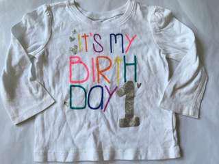 TCP Baby Girl biRthday Top 12-18m
