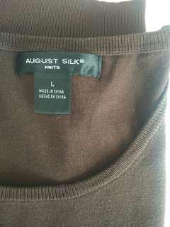Sleeveless August silk top