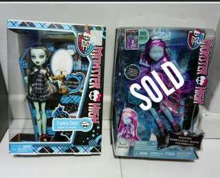 Monster High Doll Frankie Stein n Kiyomi Haunterly