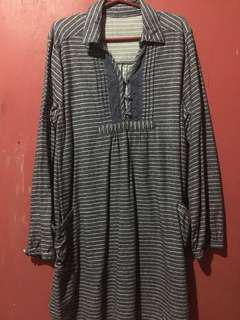 Long Sleeved Dress with Stripes
