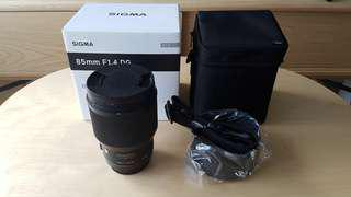 Sigma Art 85mm f1.4 for Canon Mount