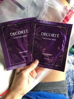 DECORTE face care mask
