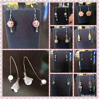 😍SALE CLEARANCE Earings cute DANGLING pearl diamond tribal silver assorted designs