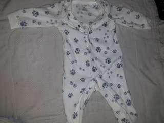 Baby boy sleeping bodysuit