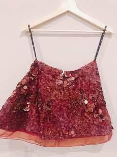 Moving Sale—Aje Sorian Sequin mini skirt (size 6)