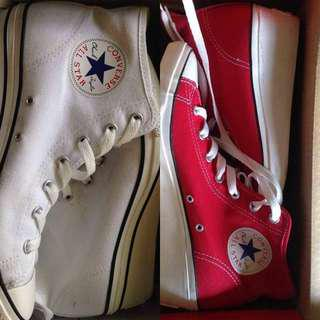 AUTHENTIC CONVERSE SHOES WITH HEELS