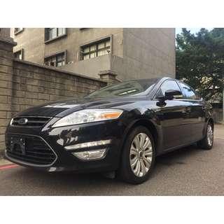 <可私分 超額貸 全額貸 零利率 3500即可牽車> 2012 Ford Mondeo 2.0 黑
