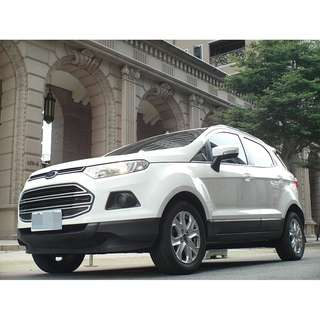 <可私分 超額貸 全額貸 零利率 3500即可牽車> 2014 Ford Ecosport 1.5 白