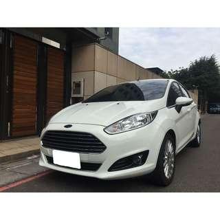 <可私分 超額貸 全額貸 零利率 3500即可牽車> 2015 Ford Fiesta 1.0 白