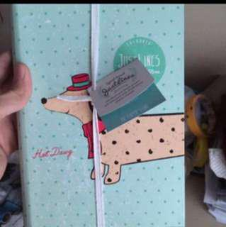 New Paper Stone Dog Design Journal/Note Book Authentic