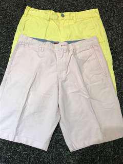 Celana Bermuda Katun Kuning & Pink, Set 2