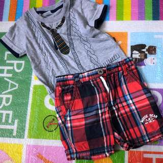 Bundle: shirt 18m + shorts size S (can fit up to 2 years)