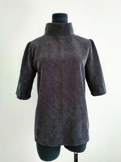 High neck retro top size 8