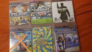 PS3 Game - sports, cod, w11, ape