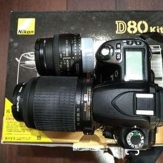 Nikon D80  , Nikon AF-S 55-200mm , 50mm ,1.8 D公司貨 人像鏡  含盒裝