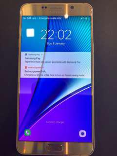 Cheapest Negotiable Samsung galaxy note 5 32gb gold
