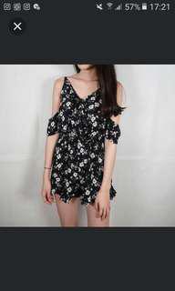 💎 Floral wrap front cold shoulder jumpsuit #MidSep50