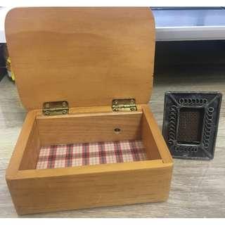 古典木製置物盒集大頭照相框