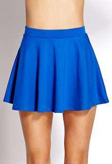 F21 Blue Skater Skirt