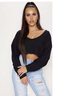 PLT Cropped long sleeve knit