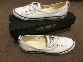 Converse white dainty ballet style