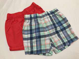 CARTER's 2 pairs of shorts (for boys)