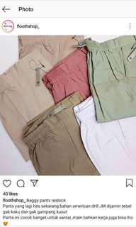 baggy pants / trouser pants bahan american drill JM