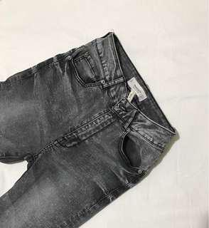 MANGO grey NOA skinny high waist jeans