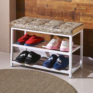 Shoe Rack with sofa cushion seat