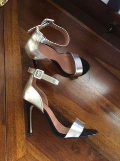 Topshop ankle strap heels