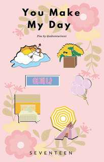 SEVENTEEN YOU MAKE MY DAY ENAMEL PINS by @adventurinsvt (twt)