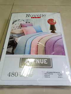 Novelle Avenue 4PCS Queen Fitted Sheet Set 480TC Purple