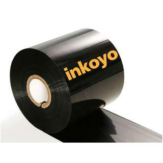 """🚚 INKOYO Thermal Wax Ribbon (110mm x 300M, Fact Out, 1""""core) for barcode / Label Printers"""