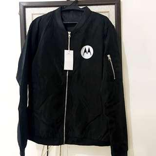 Motorolla Water Resistant Jacket Black