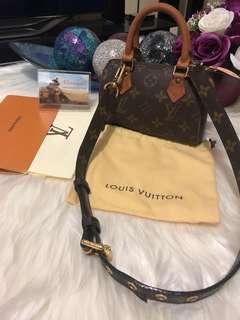 Louis Vuitton Mini Sac HL Nano Speedy in Monogram
