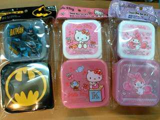 正版Batman, Hellokitty, Melody 小食物盒, 毛巾盒, 多用途盒