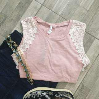 Michaela Dusty Pink Sleeveless Top