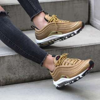 "英國代購* 特價!Nike Wmns Air Max 97 QS GS ""Metallic Gold"""